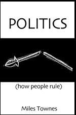Politics (how people rule) - book title with broken spear logo